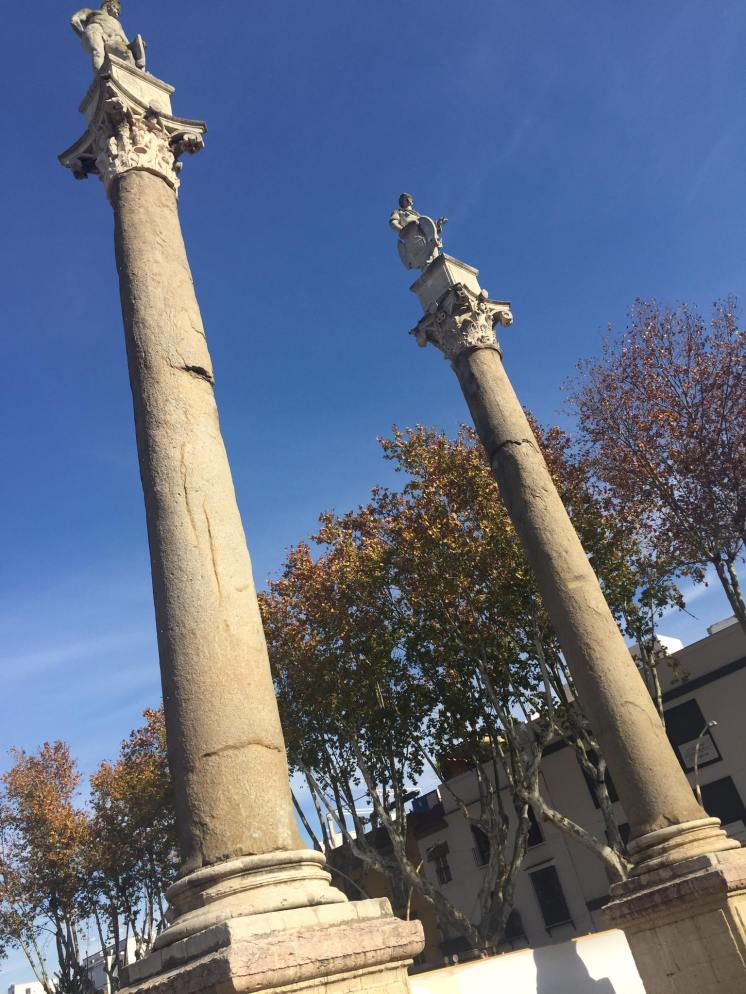 The columns of Hercules & Julius Ceaser